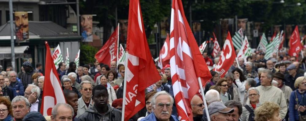 Oltre mille al 1° maggio di Bergamo Preoccupa la disoccupazione giovanile