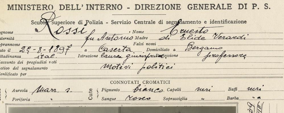Resistenza: sovversivi e partigiani I documenti dell'Archivio di Stato