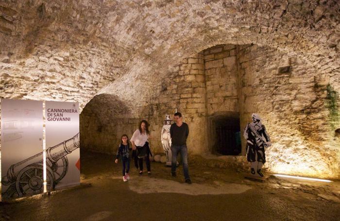 Bergamo, visita alla Cannoniera di S. Giovanni