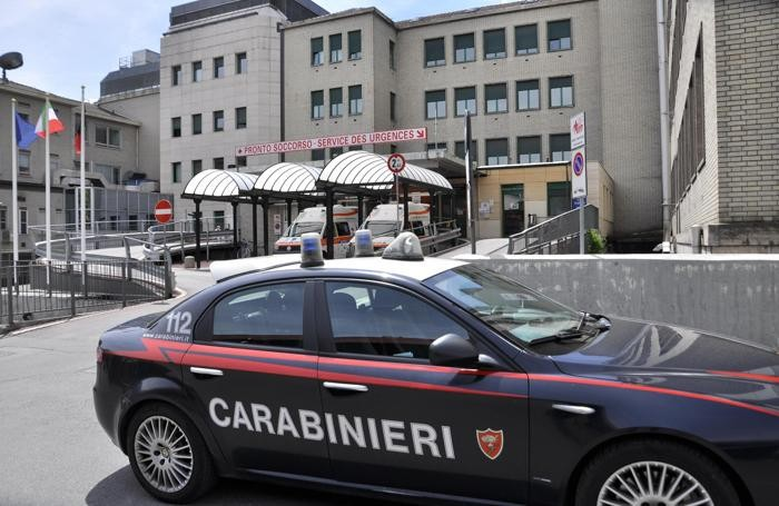 L'ospedale di Aosta dove è ricoverato Fabio Pelis, accusato di aver dato fuoco alla direttrice di una banca della Bassa Bergamasca