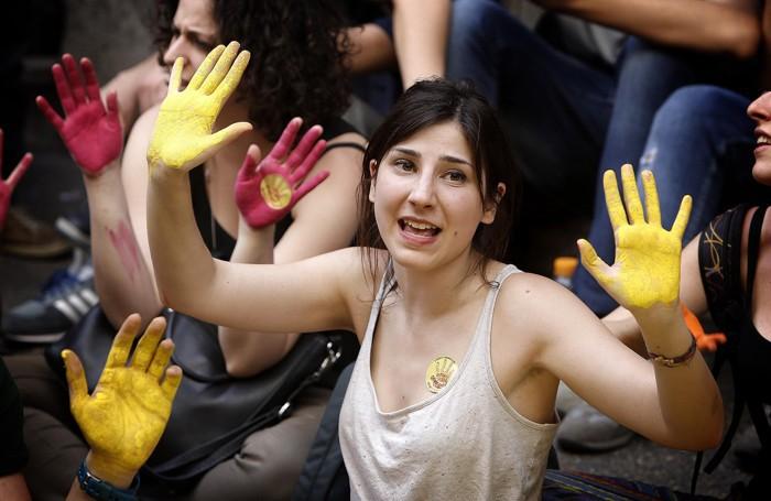 Il recente presidio di studenti contro il ddl  «Buona Scuola»