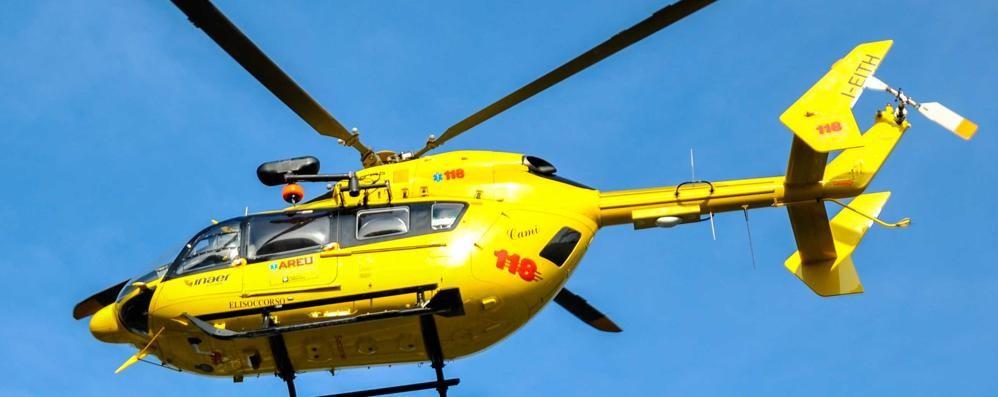 Cade al Pizzo Recastello, ferito Escursionista soccorso in elicottero