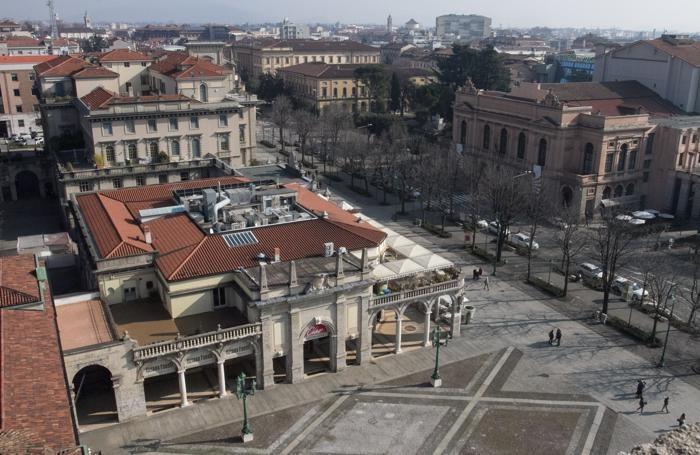 Piazza Vittorio Veneto vista dalla Torre dei Caduti