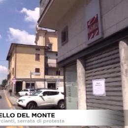 Protesta dei commercianti a Grumello del Monte