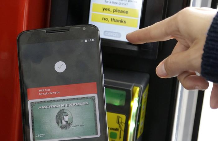 Una dimostrazione di Android Pay alla convention di Google