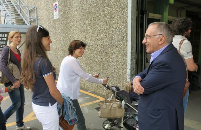 Silvio Albini riceve gli ospiti