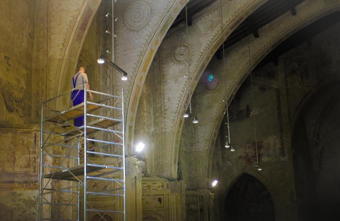 Lavori a Sant'Agostino