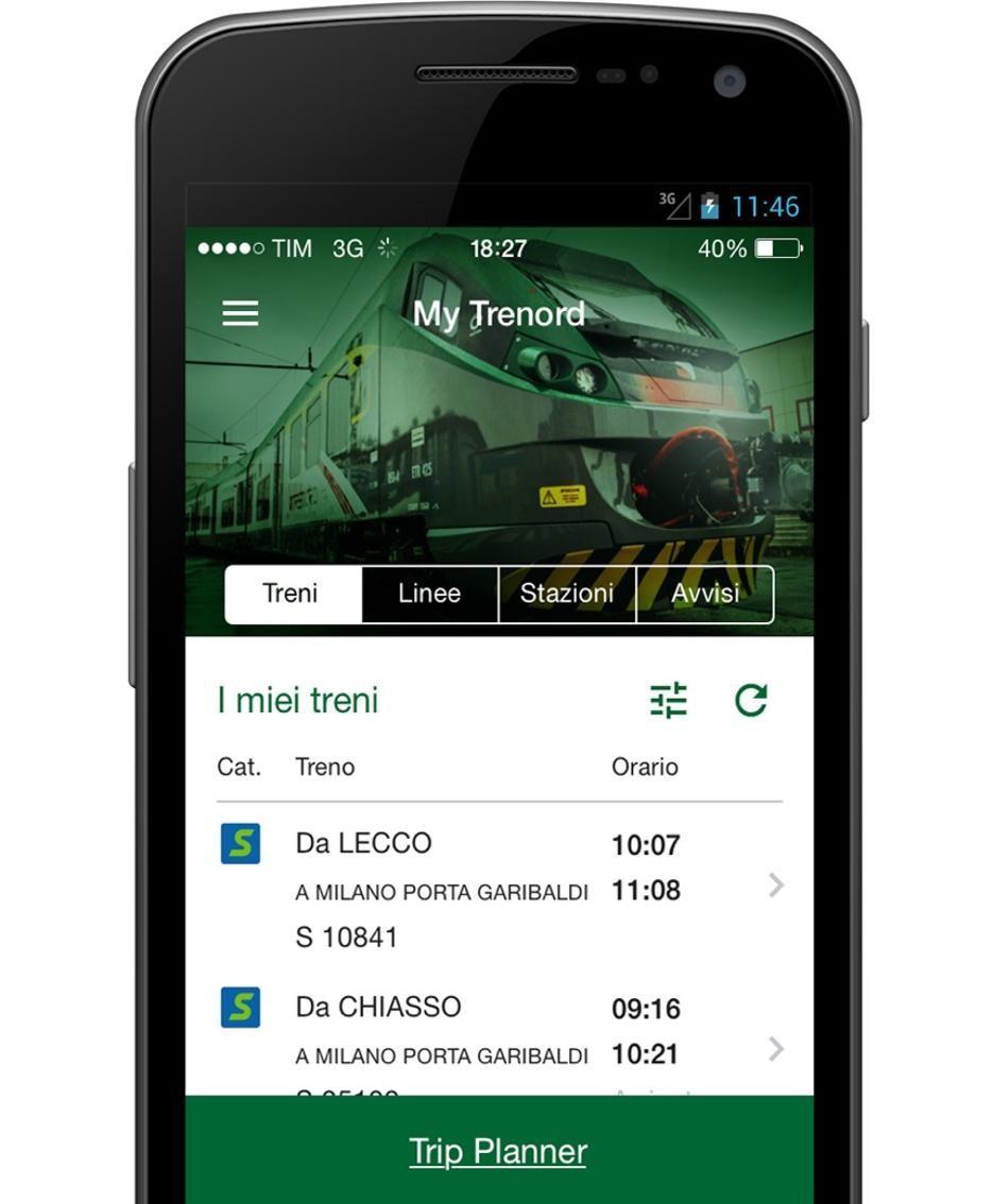 La nuova App di Trenord