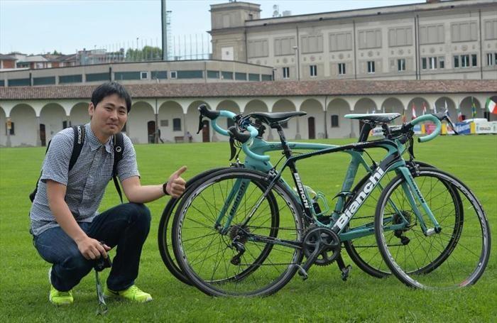 Un coreano che parteciperà alla corsa