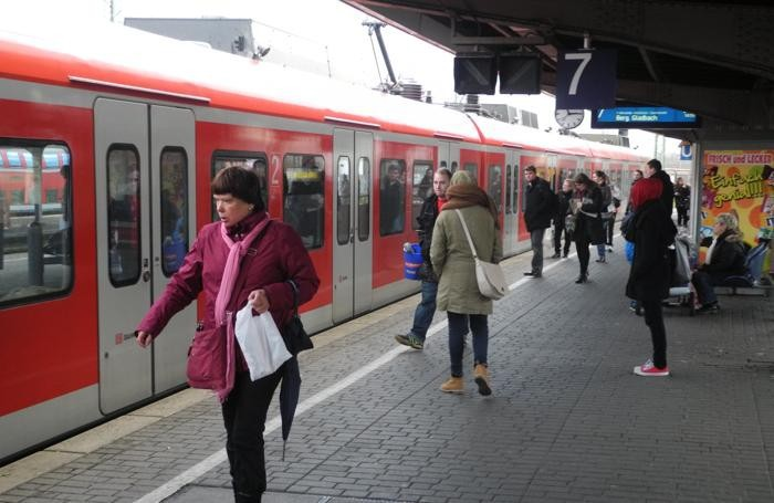 Un treno metropolitano in Germania
