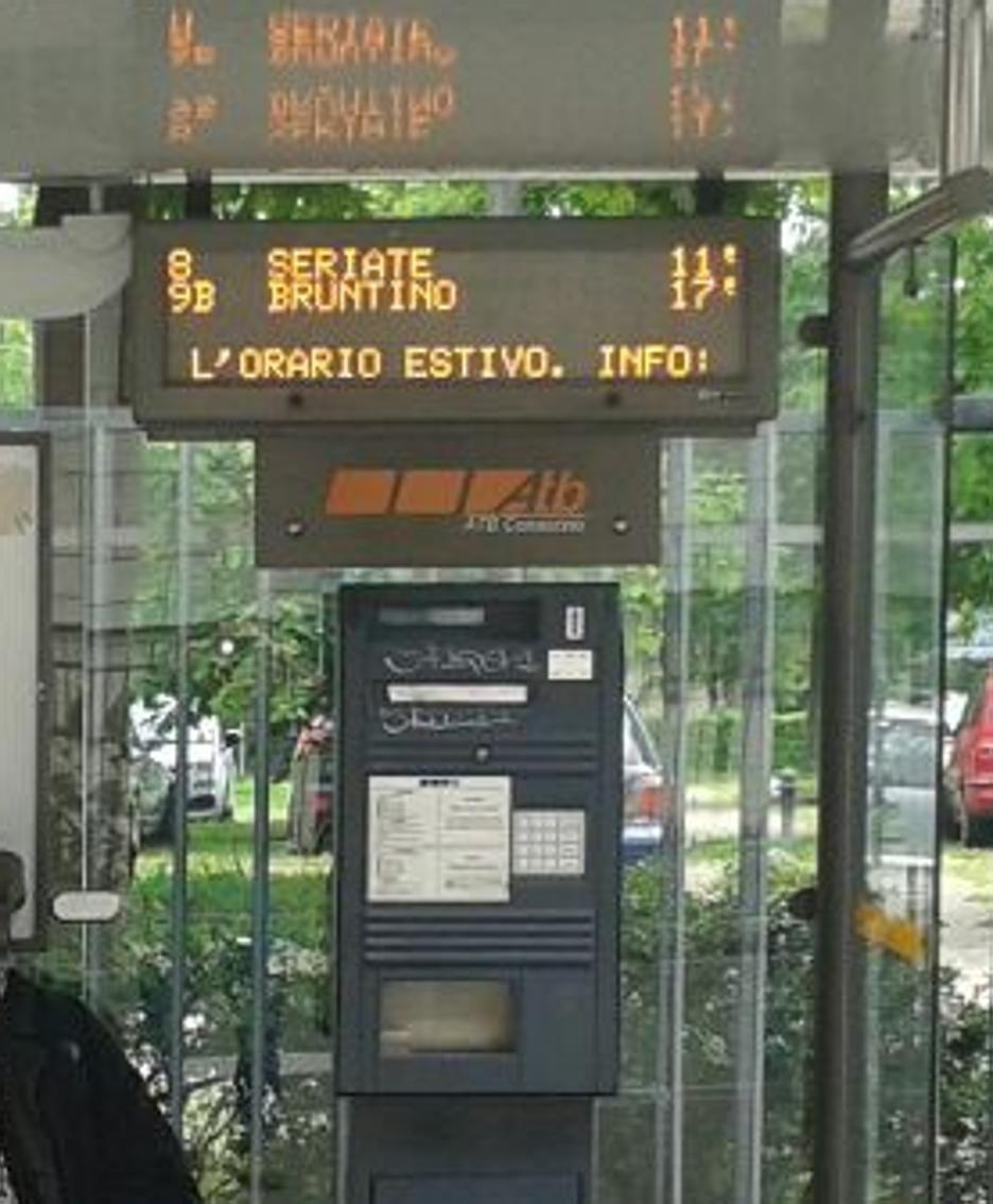 L'emettitrice di biglietti di via Broseta