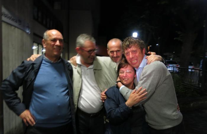 Olini festeggia con il suo gruppo