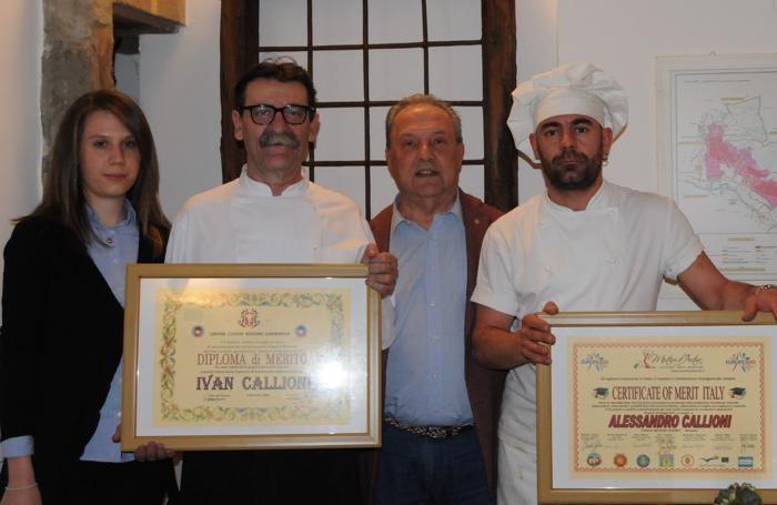 Da sinistra Alessandra Organista, Ivan Callioni, Ivar Foglieni, Alessandro Callioni