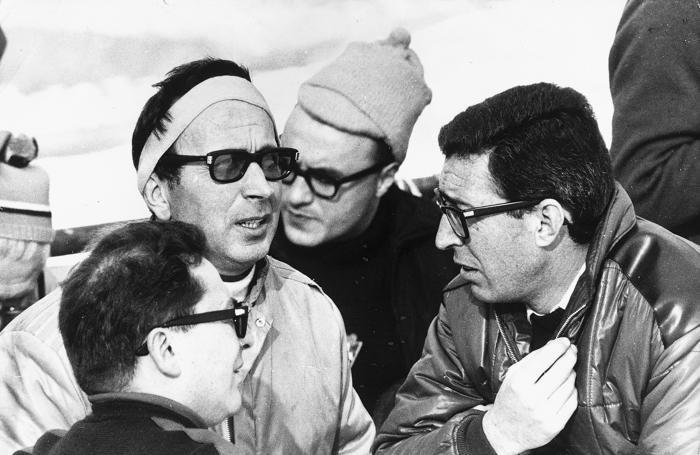 Gianni Radici con Giancarlo Mangili, Fausto Vaglietti e Gianni Spadaro