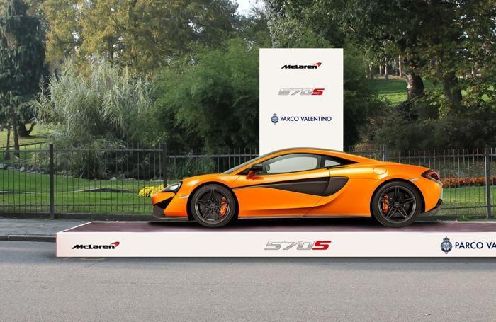 La McLaren al Parco Valentino di Torino