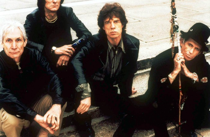 The Rolling Stones nel 1998: da sinistra  Charlie Watts, Ron Wood, Mick Jagger e  Keith Richards