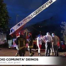Fiobbio, incendio Comunità disabili. Due intossicati gravi. Fuori pericolo.