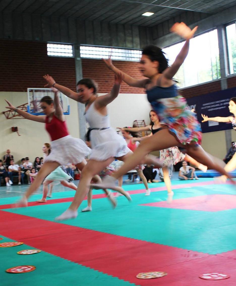 Le ginnaste della «Asd Ginnastica Artistica Treviolo»