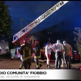 Incendio comunità di Fiobbio. Tanta solidarietà.