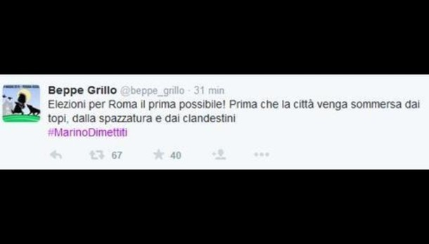 Grillo corregge tweet su clandestini