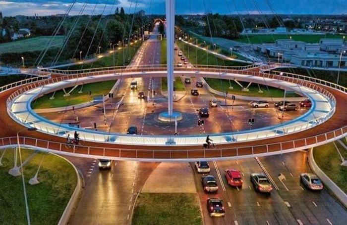 Eindhoven e il rondò per le bici