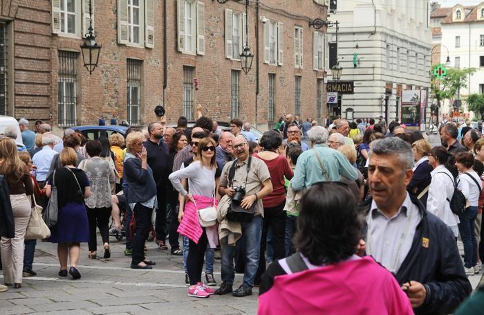 I fedeli bergamaschi a Torino