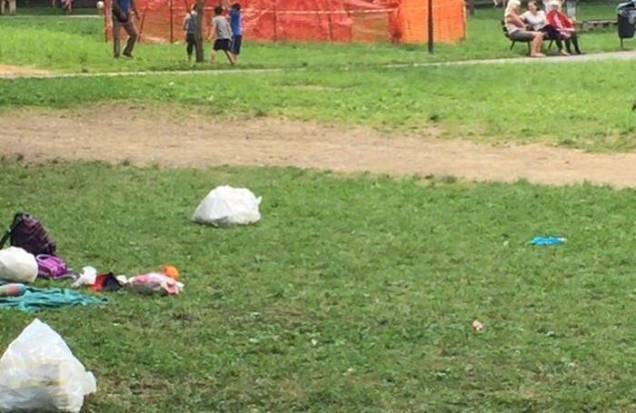 Sporcizia e degrado al parco Suardi