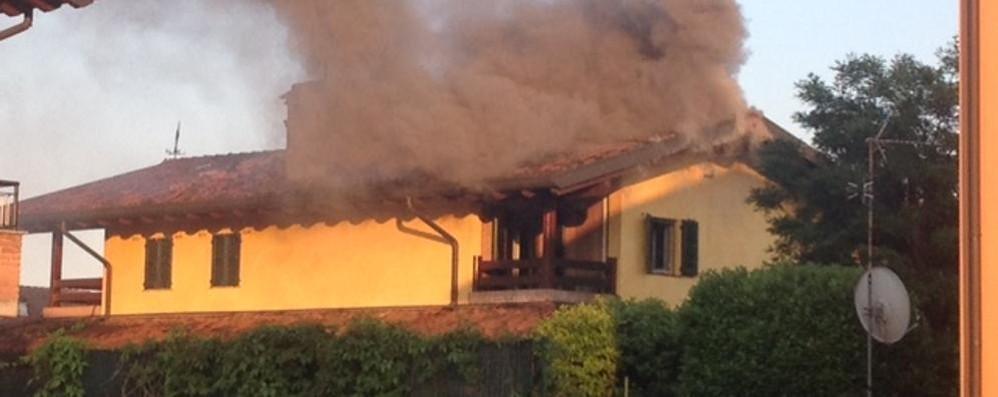 Spirano, galeotto fu il barbecue Brucia il tetto di una villa: danni ingenti