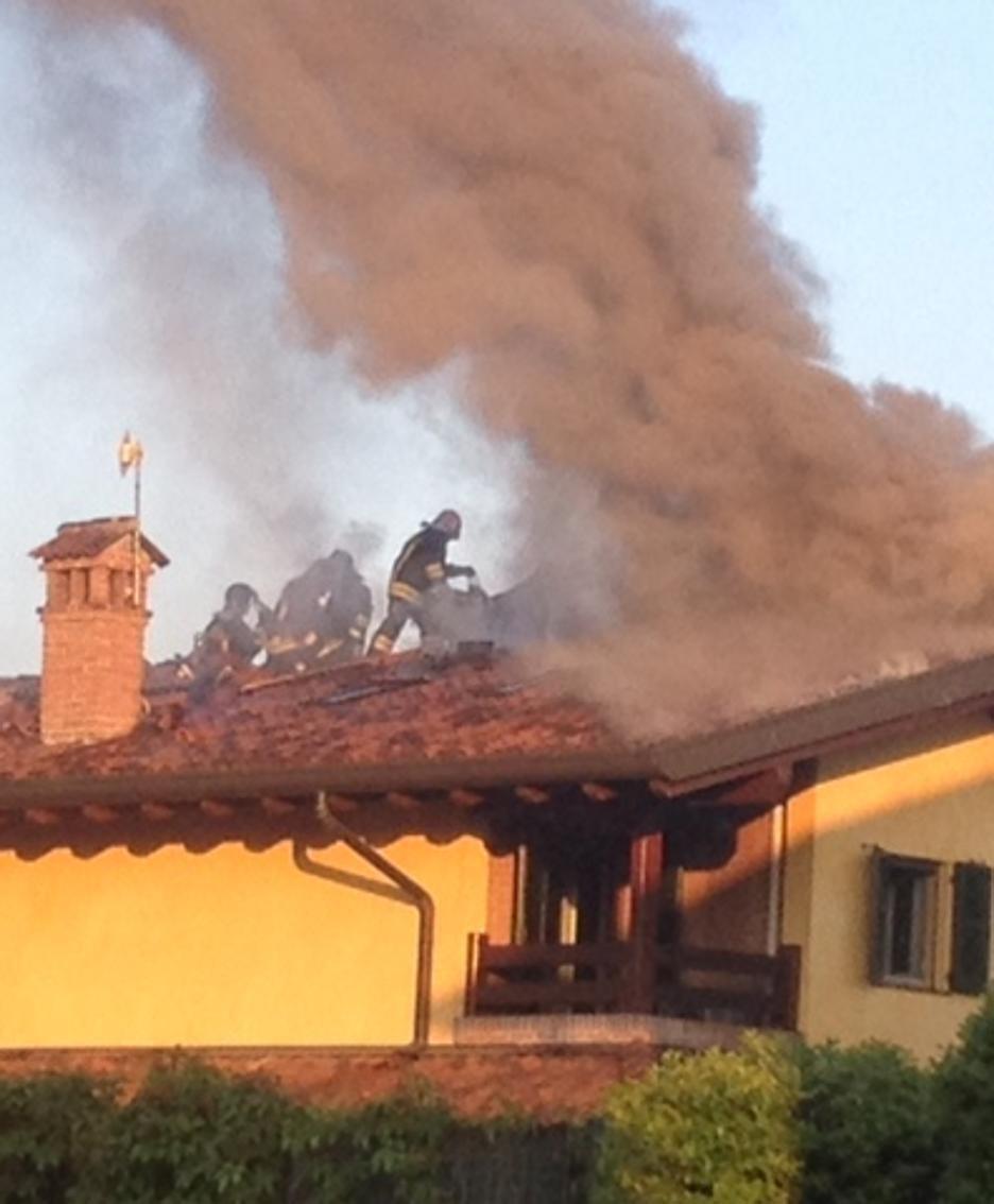 L'incendio a Spirano