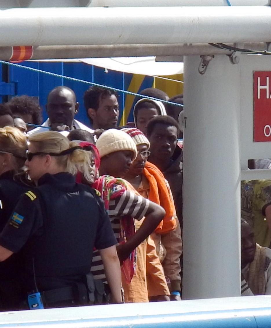 I profughi sbarcati a Catania