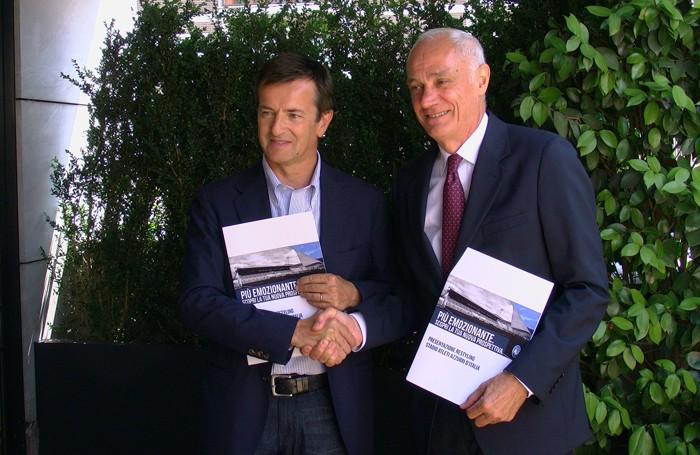 Giorgio Gori con Antonio Percassi