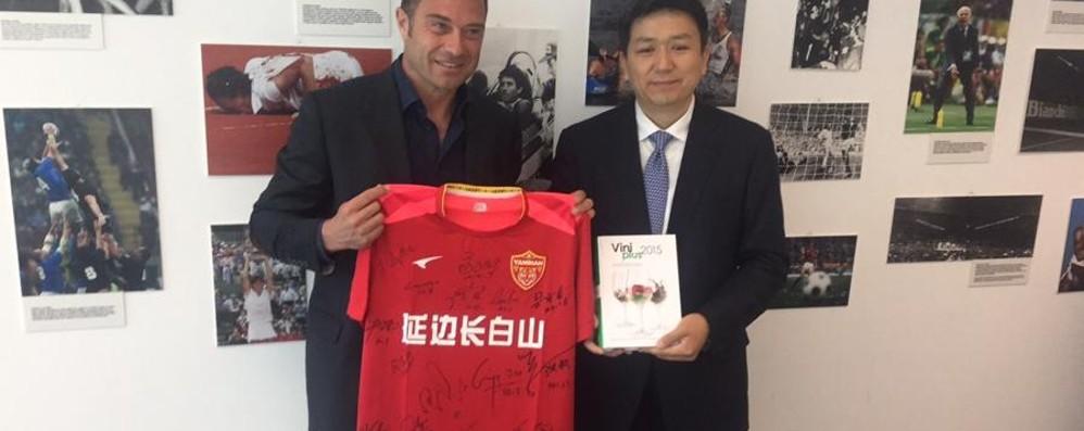 50 giovani cinesi ospiti dell'Atalanta La squadra dello Yanbian FC a Zingonia