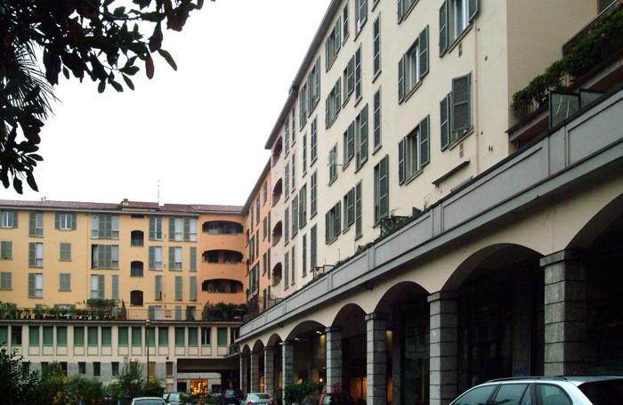 Il complesso ex Inpdap tra via Borfuro e via Sant'Orsola