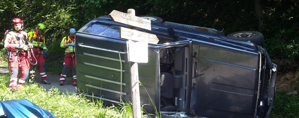 Fonteno, giù dalla mulattiera con la jeep Schiacciato dall'auto, muore un 79enne