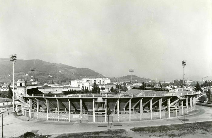 Lo stadio, senza la curva Nord...