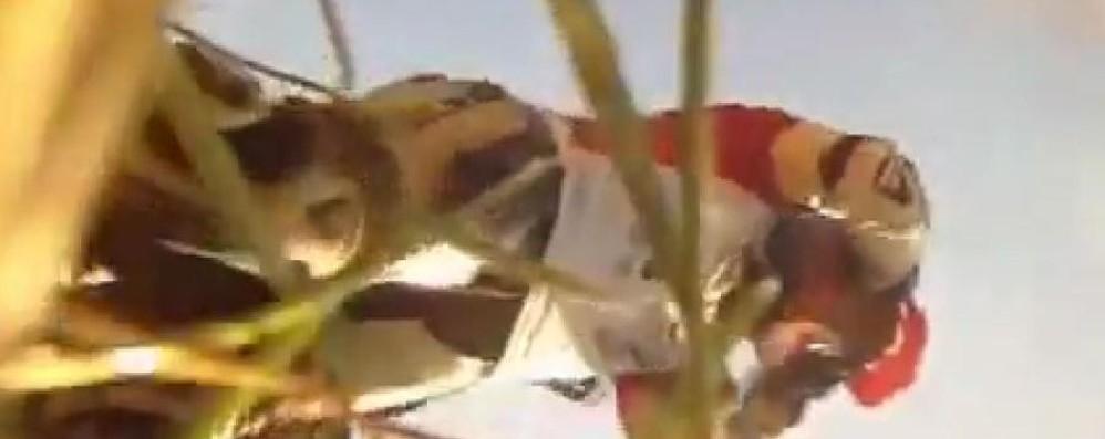 Moto esce di pista e piomba sul pubblico Tre feriti - Guarda il video dello schianto