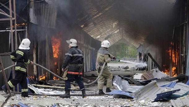 Ucraina: incendio a deposito di petrolio