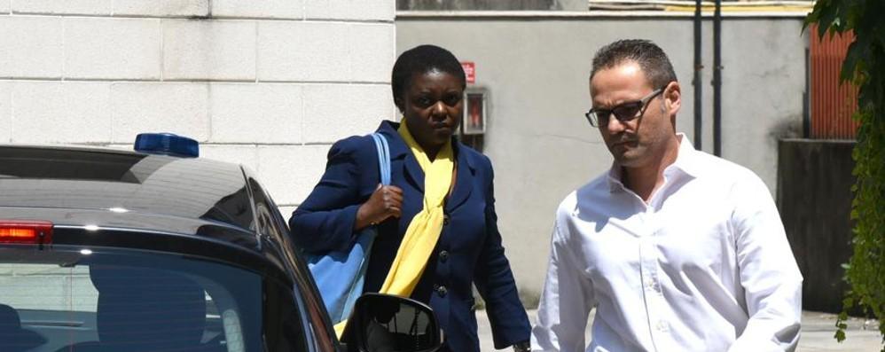 Cecile Kyenge a Bergamo: «Quelle offese colpivano tutta l'Italia»