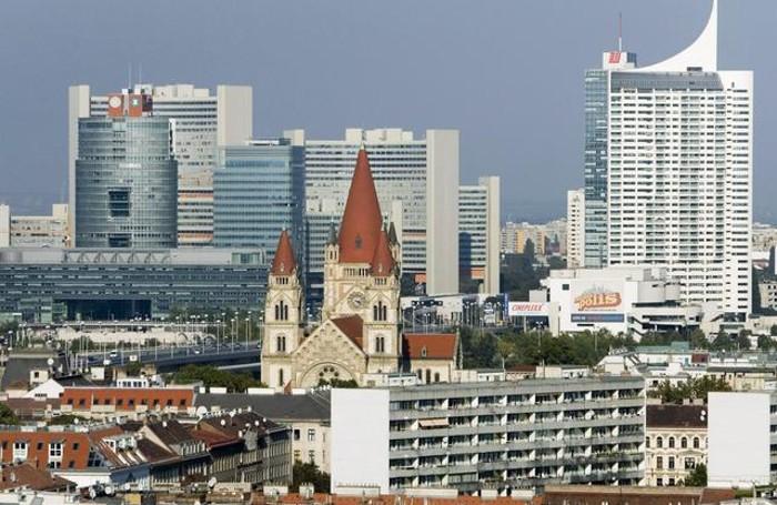 Un panorama di Vienna