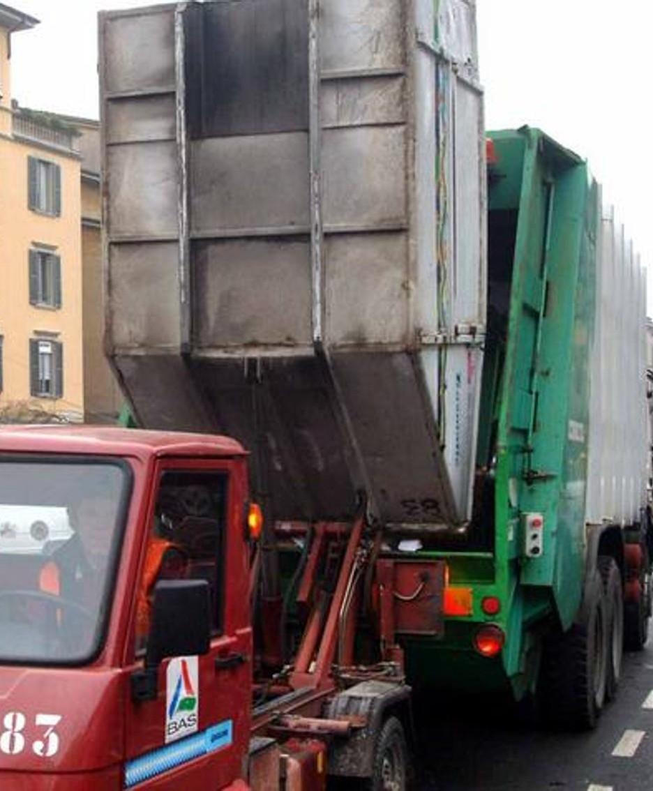 La raccolta dei rifiuti a Bergamo