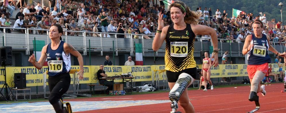 """Martina Caironi fa il record del mondo A Nembro i 100 metri in 15"""" 05 - Video"""
