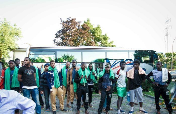 I migranti arrivati martedì 30 giugno a Filago