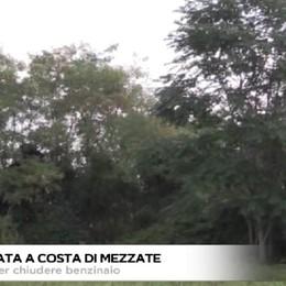 Costa di Mezzate, alberi su accesso a benzinaio e poi i ladri agiscono indisturbati