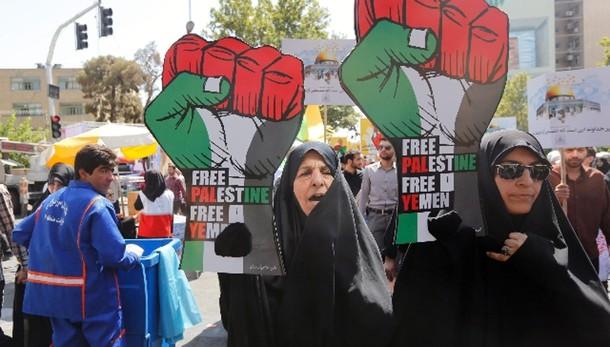Iran: corteo pro-Palestina, morte a Usa