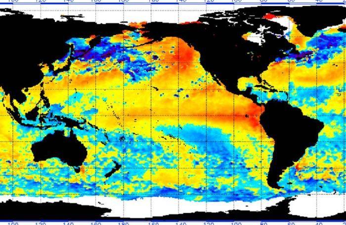 Le anomalie nella temperatura degli oceani