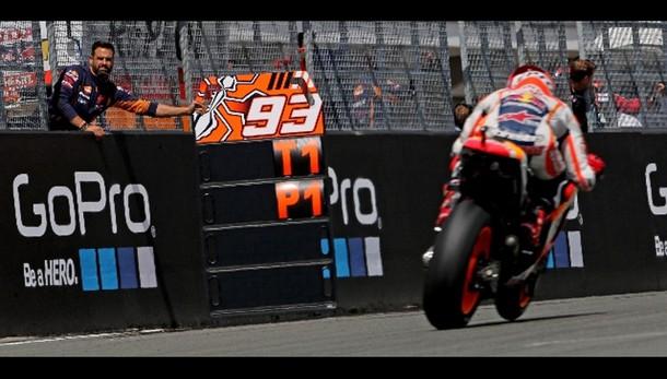 MotoGp: Germania, Marquez in pole