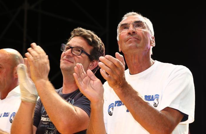 Fulvio Gambirasio con Edy Reja