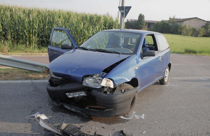 La Fiat Punto coinvolta nell'incidente mortale