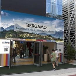 Bergamo in vetrina all'Expo Allestimento curato da Mastrovito