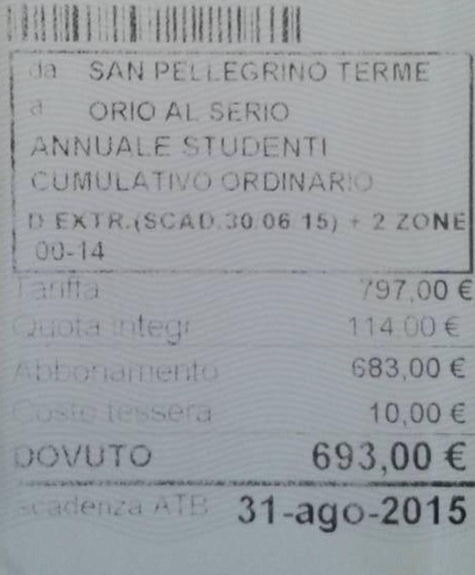 Un dettaglio del biglietto con le due scadenze